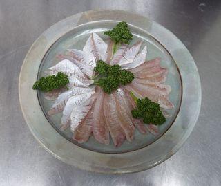 レンコ(キダイ)の酢締めを手巻き鮨に001.JPG