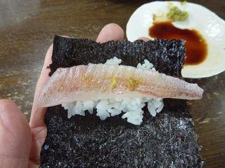 レンコ(キダイ)の酢締めを手巻き鮨に002.JPG